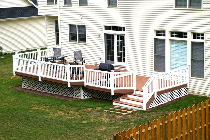 Brown And White Two Tone Decks Pinterest Vinyls Colors And Composite Decking