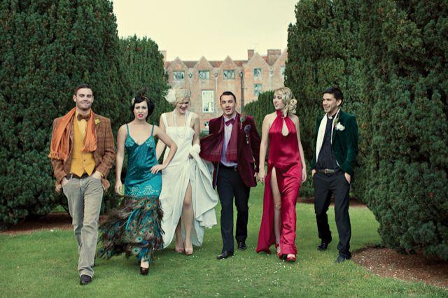 Clue themed murder mystery wedding / Dottie Photography