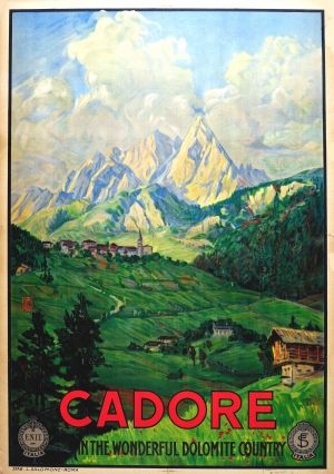 Cadore Italy ENIT, 1920s - original vintage poster listed on AntikBar.co.uk