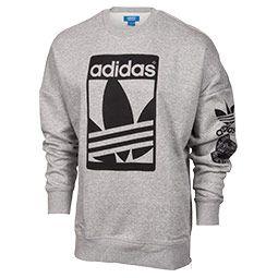Men's Adidas Originals Graphic Crew Sweatshirt   Finish Line