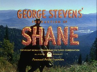 """Shane"" is a 1953 American Western film from Paramount.[2][3] It was produced and directed by George Stevens from a screenplay by A. B. Guthrie, Jr., based on the 1949 novel of the same name by Jack Schaefer. The film stars Alan Ladd, Jean Arthur (in her last film after a 31-year career) and Van Heflin, and features Brandon deWilde, Elisha Cook, Jr., Jack Palance and Ben Johnson. Not mentioned was Clayton Moore, a/k/a ""The Lone Ranger""."