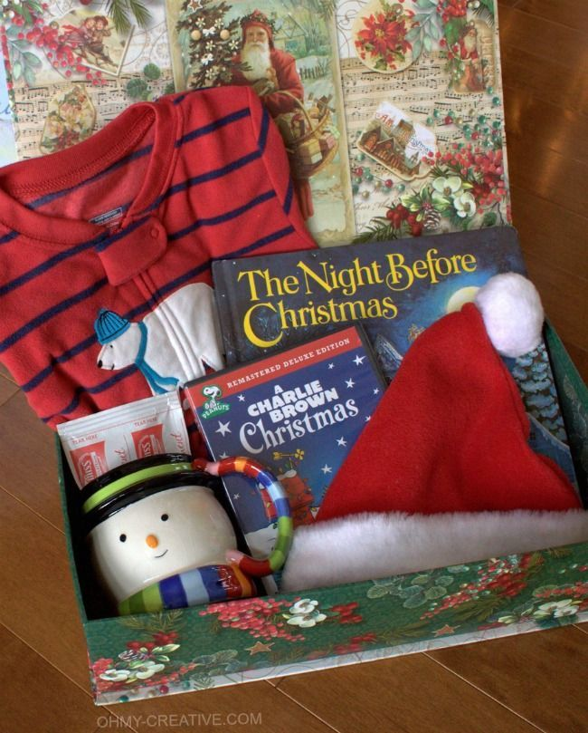 From toddlers to teens start a new family tradition on Christmas Eve with this Night Before Christmas Box with Free Printable Label Fun for the whole family | OHMY-CREATIVE.COM