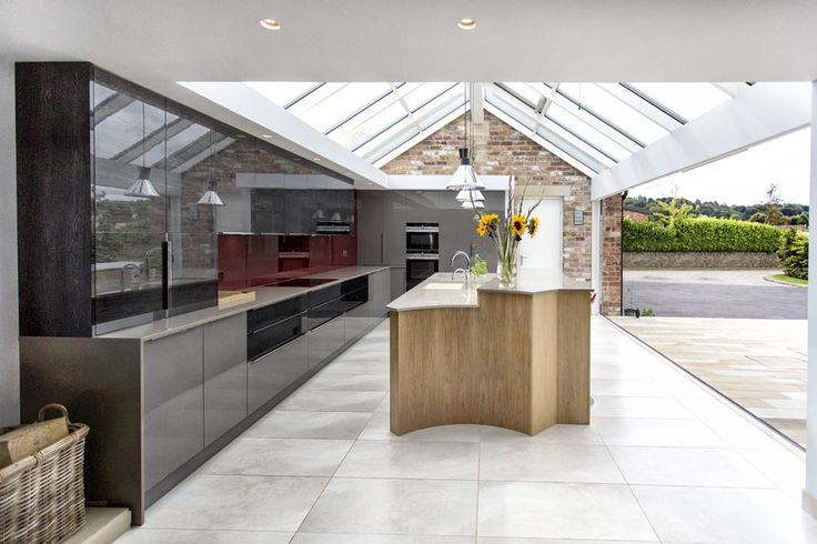 Bi-Fold Doors - By Dortech Maintenance. Images Above Barn Conversion, Open Kitchen Plan Mirfield, West Yorkshire