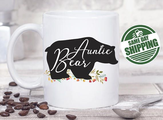 auntie mug, auntie to be, auntie bear mug, auntie bear, auntie gifts, Auntie uncle mug, best aunt ever, best auntie ever, best aunt ever mu  This cute design will be printed on best quality Grade A fully white Mugs or Mugs with black handle. If you prefer, we can print design on one side and special message on the other side. Kindly specify in order notes. We use dye sublimation and heat transfer technique to print the design on the mugs. This ensures that the design and the words will look…
