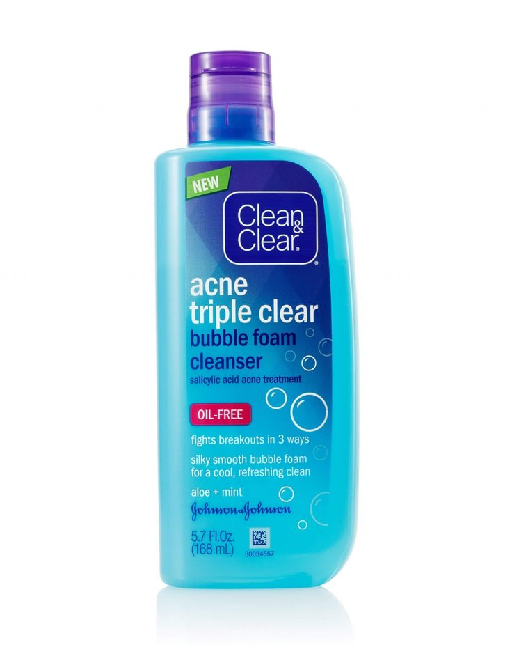 This actually cleared my skin and the mint and aloe feel amazing!! Acne Triple Clear™ Bubble Foam Face Cleanser | CLEAN & CLEAR®