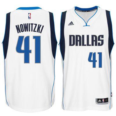 Dirk Nowitzki Dallas Mavericks adidas Swingman climacool Jersey - White