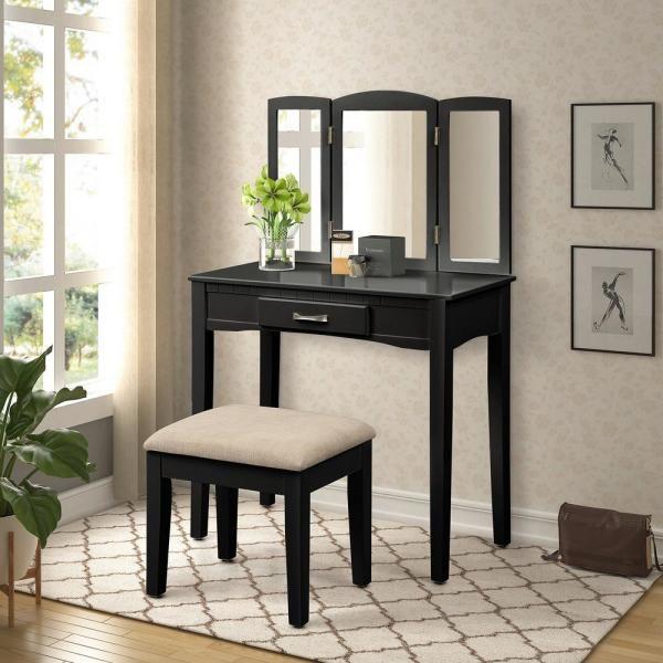 Coaster Home Furnishings 2 Piece Vanity Set With Hidden Mirror