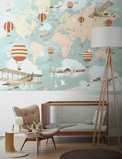 Little Hands Wallpaper Mural - World Map on Behance