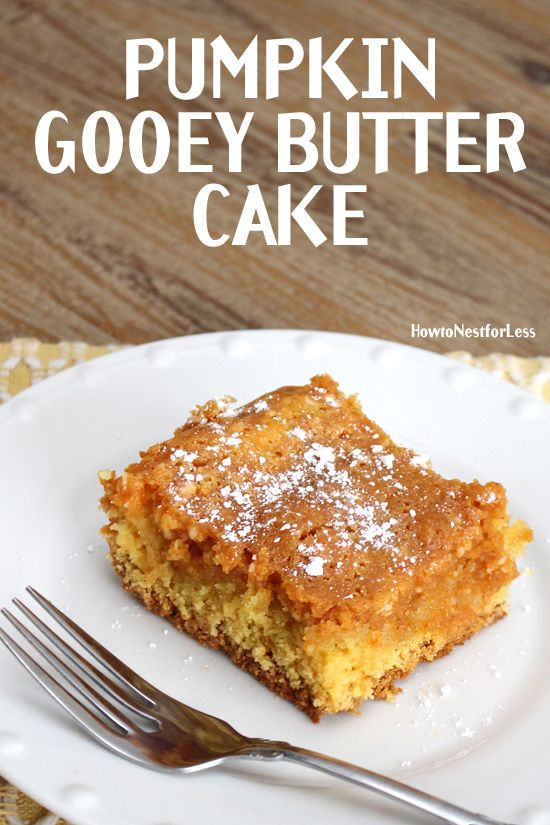 PUMPKIN GOOEY BUTTER CAKE. Basically the best dessert ever. I'd take this over…