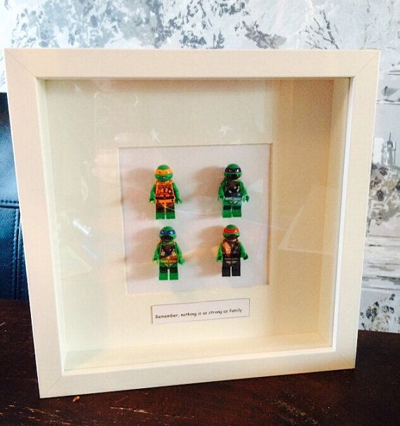 Teenage Mutant Ninja Turtle figure frame by TweeandCakeHome