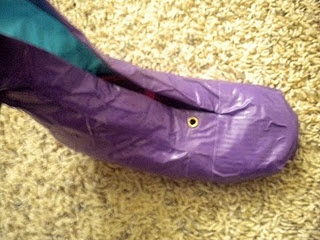 How to make boots for a costume out of ballet flats, socks and duct tape.