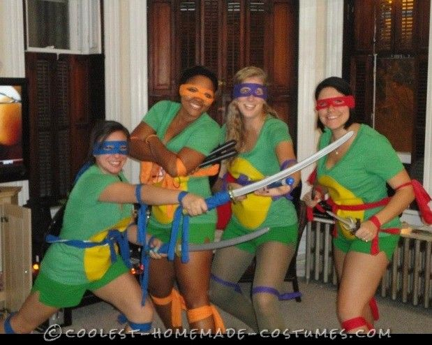 Easy Adult Sexy Ninja Turtle Costumes aka TMNT... This website is the Pinterest of costumes