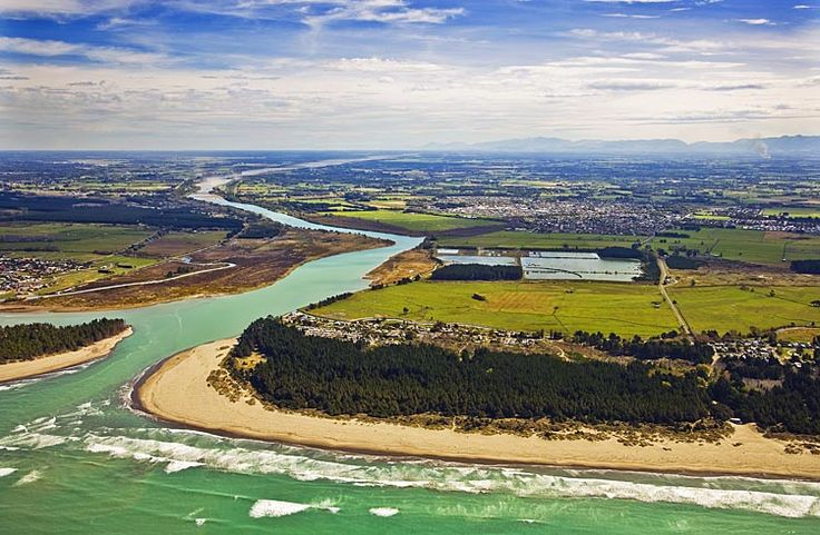 Waimakariri River Mouth, see more, learn more, at New Zealand Journeys app for iPad www.gopix.co.nz