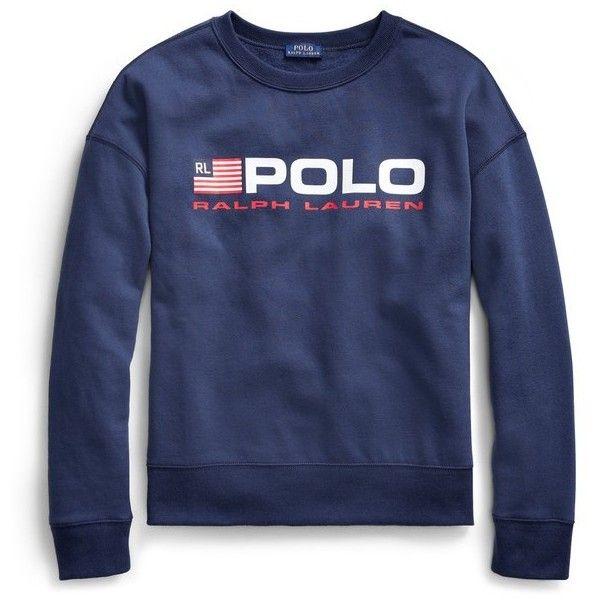 Polo Ralph Lauren Fleece Polo Sweatshirt ($125) ❤ liked on Polyvore featuring tops, hoodies, sweatshirts, long-sleeve, red, long sleeve tops, polo ralph lauren sweatshirt, red crew neck sweatshirt, red crewneck sweatshirt and polo sweatshirt