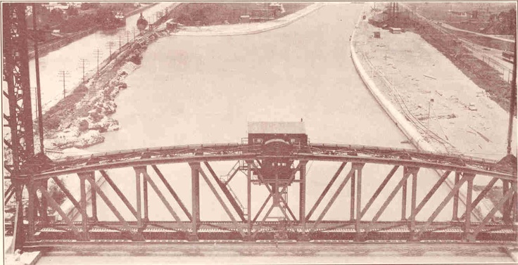 Early pic of bridge over canal in Welland