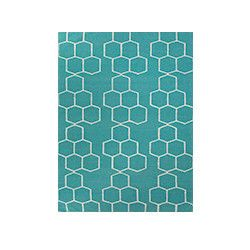 Honeycomber Rug - Teal- NEW