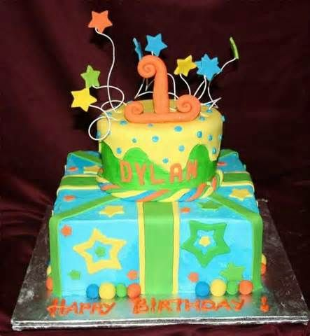Memphis Blue Birthday Cake Ideas