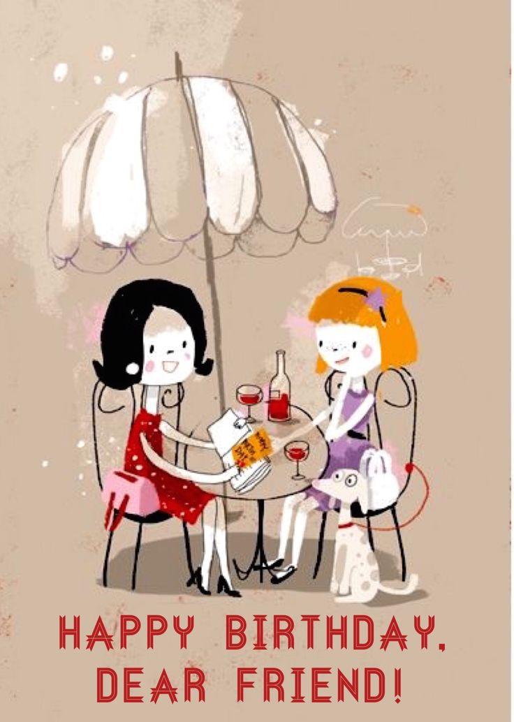 Best 25 Happy birthday dear friend ideas – Happy Birthday Friend Card