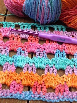 OYA's WORLD- Crochet-Knitting: Crochet: Perforated Wrap ShawlClaudia