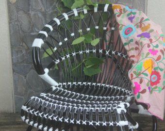 rotin noir et blanc intérieur/chaise rotin extérieur chaise restaurant chaise/français bistro bar-chaise tabouret/papillon chaise/chaises/chaise à manger