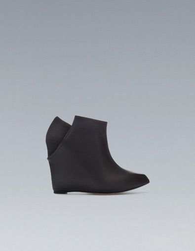LEATHER WEDGE ANKLE BOOTS - Woman - New this week - ZARA