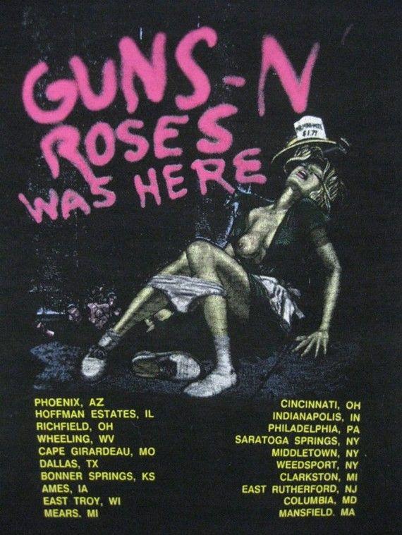 Original GUNS N ROSES vintage 1987 tour