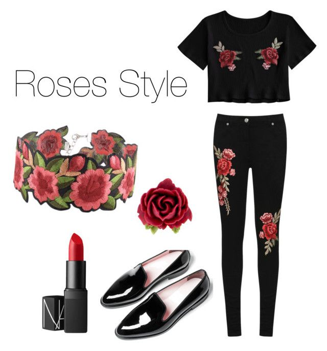 """""""Roses Style"""" by marielouhavet on Polyvore featuring WearAll, NARS Cosmetics, Tarina Tarantino and WithChic"""