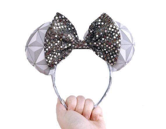Disney Epcot Spaceship Earth Mickey Mouse Ears by OctostacheCrafts