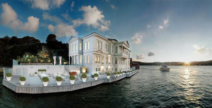 A'jia Hotel in Istanbul, Turkey. Perfectly situated and perfectly white in contrast.