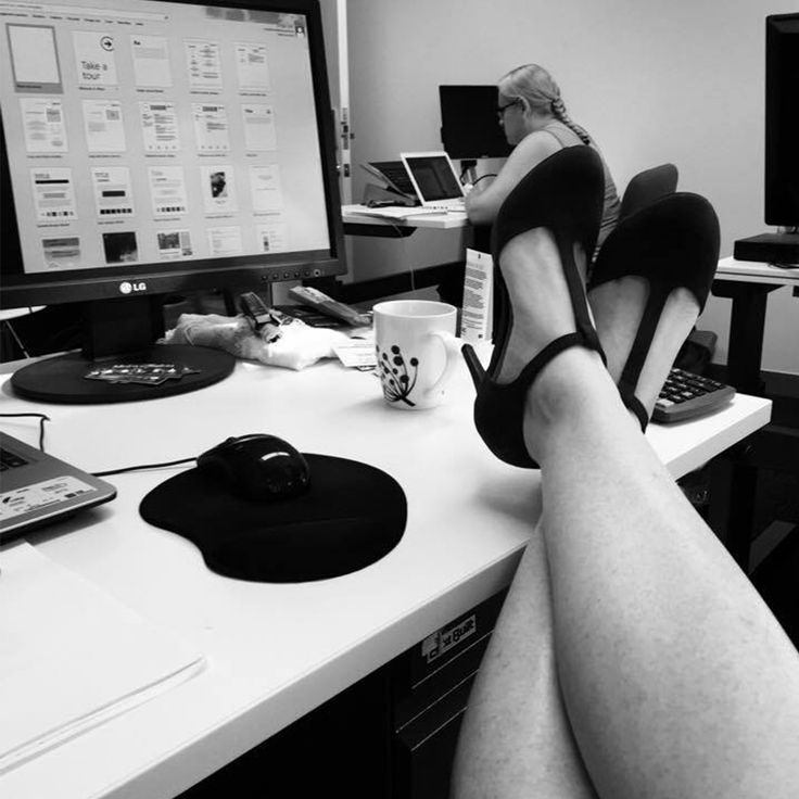 That moment you put your feet up after a big productive Monday!