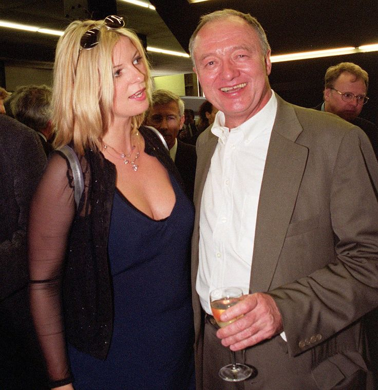 London Mayor Ken Livingstone with Britain's Prime Minister's wife Cherie Booth's half-sister Lauren at the Tate Modern in London Monday July 3 2000