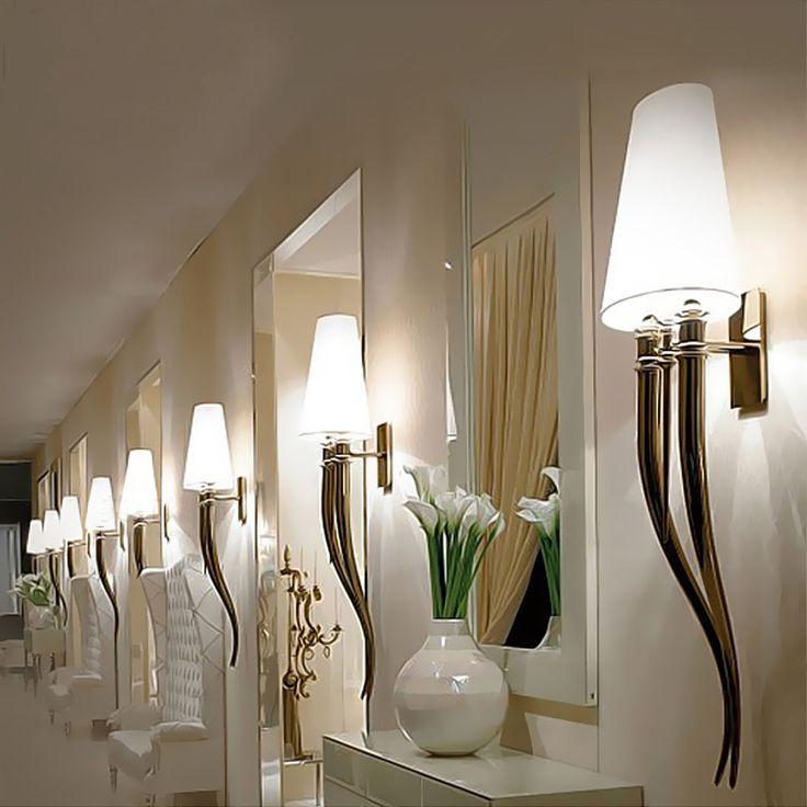 Modern Lustres LED Wall Light Horns Wall Lamp Shade Bedroom Bedside Wall Lamp E27 Luminaire Wall Sconce Light fixtures avize