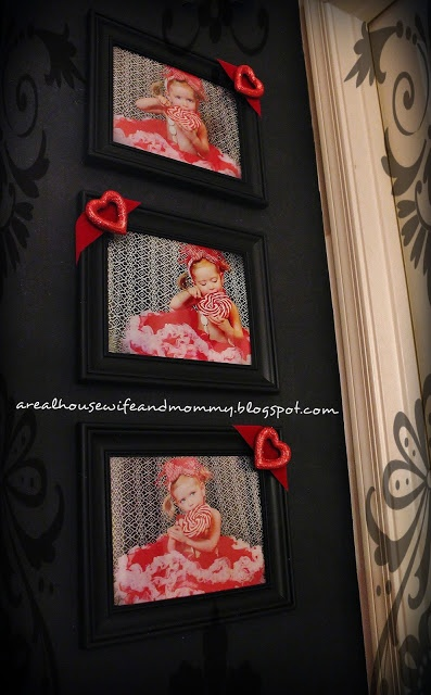 Make Custom Frames for CHEAP! Dollar Store Decor-Valentine's Day Frames