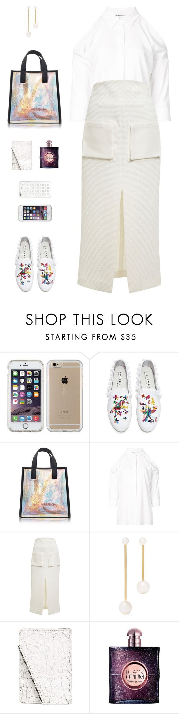 """""""Joshua Sanders Rainbow Embroidery Pom Pom Flats"""" by sol4ange ❤ liked on Polyvore featuring Speck, Joshua's, Kenzo, KaufmanFranco, E L L E R Y, Sophie Bille Brahe, South Lane, Yves Saint Laurent and MICHAEL Michael Kors"""
