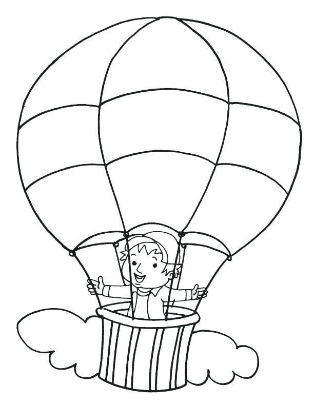 Ballon Coloring Page Hot Air Balloon Coloring Page Hot Air Balloon