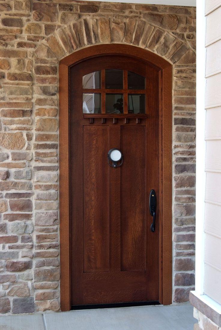 custom quartersawn white oak craftsman style 2 panel6 lite exterior wood entry door