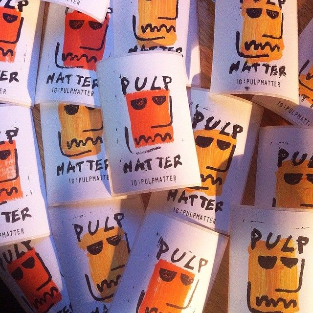 """@pulpmatter's photo: """"pumpin out #linocut #pulpmatter stickers every one of them is unique"""""""