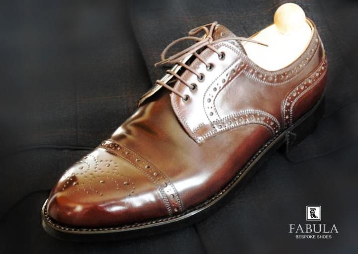 Genuine Shell Cordovan leather man shoes. -Fabula Bespoke Shoes- Follow us on Facebook and Instagram!