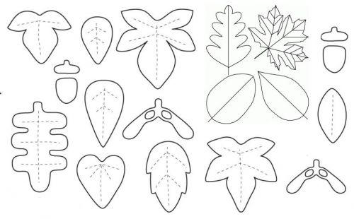 простая выкройка, осенние листья из фетра, поделки из фетра, декор для дома интрьера своими руками