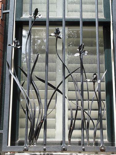 Nice security bars! Elegant...don't forget, sharp edges ...
