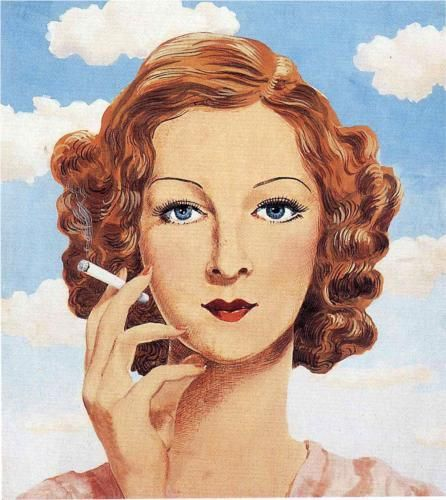 Georgette Magritte - Rene Magritte 1934.. I really like the look on her face..  He really did love her!
