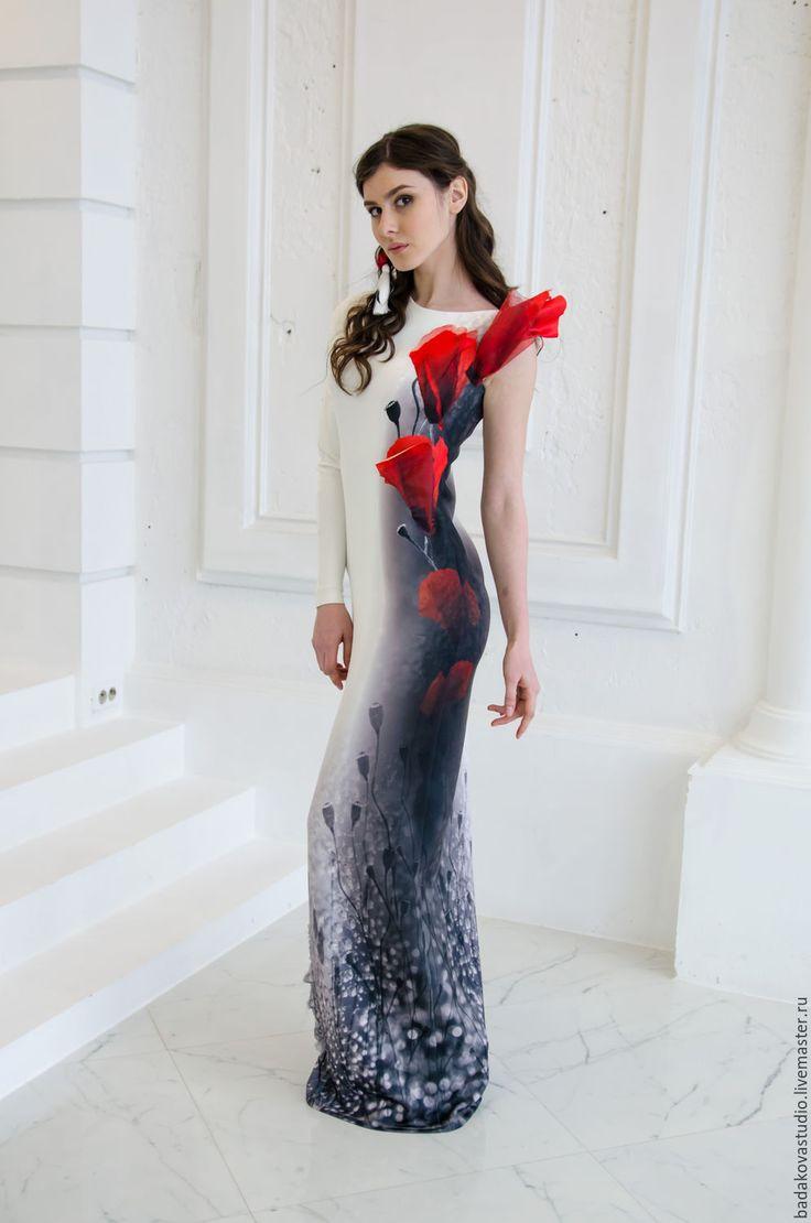 Gorgeous dress | Купить День и ночь. Маки - цветочный, платье в пол, Платье нарядное, платье вечернее