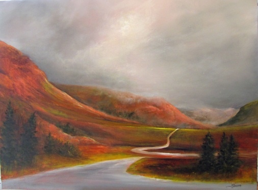 The Tablelands, Gros Morne - Janet Simmons Sweet   30 x 40 Oil