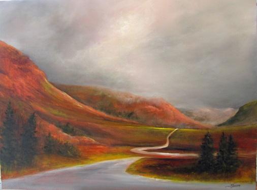 The Tablelands, Gros Morne - Janet Simmons Sweet   30 x 40 Oil