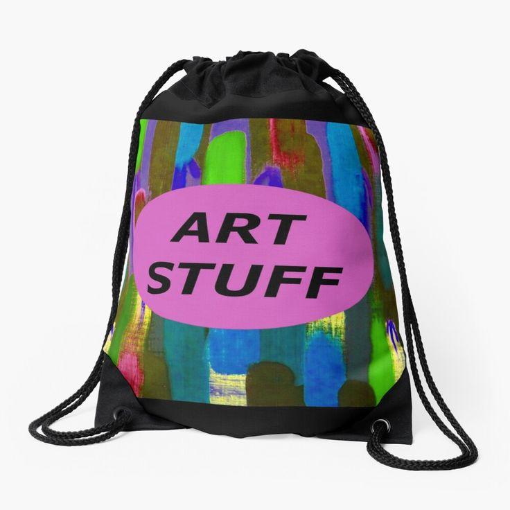 Art stuff pink drawstring bag drawstring bag designs