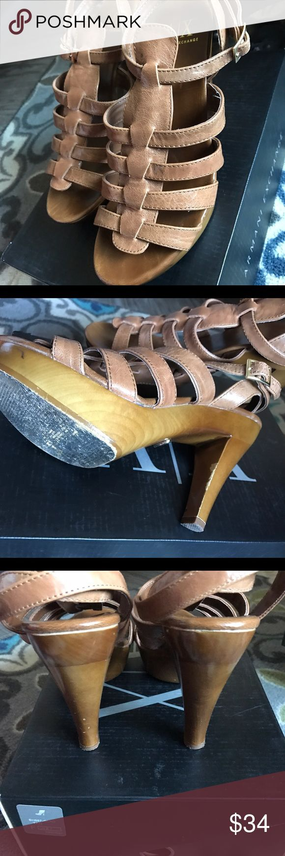 Armani Exchange Gladiator Sandals A/X platform Gladiator Sandals. You won't even feel like you're wearing heels because of its platform. It runs TTS. Still in good condition. Has box. A/X Armani Exchange Shoes Sandals