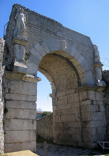 """Porta Bovianum"", West entrance to Saepinum by ecormany, the Province of Campobasso , Molise region Italy."