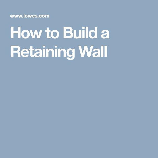 retaining wall block instructions