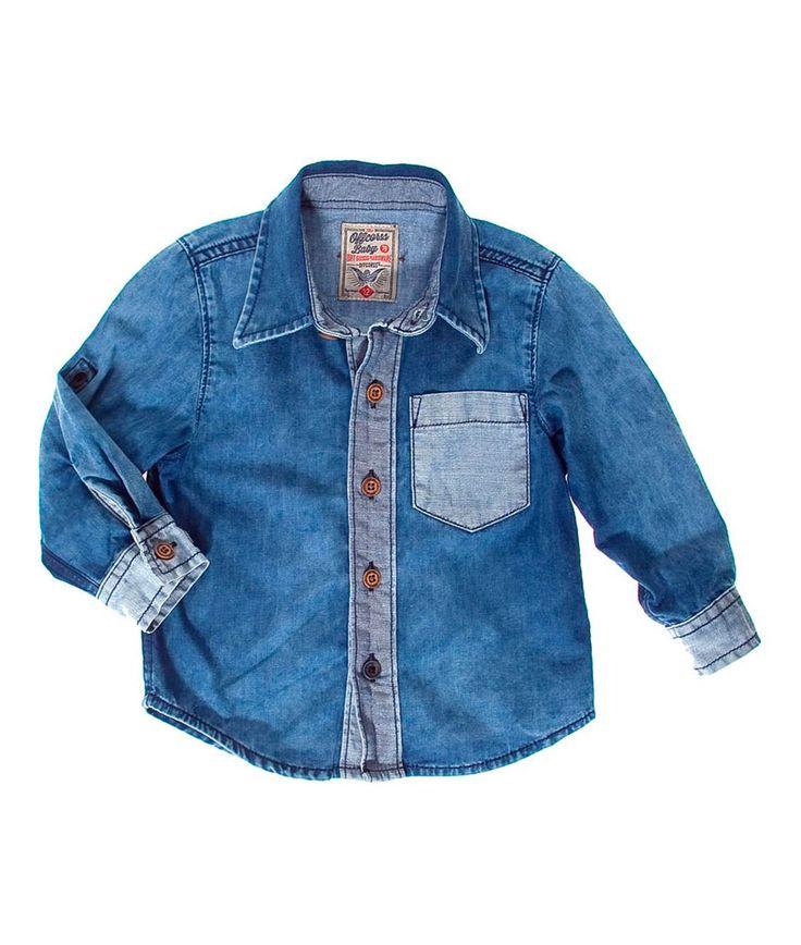 Camisa para bebe niño manga larga roll up en indigo. Compra Ropa para Niño en la Tienda On line de OFFCORSS - OFFCORSS