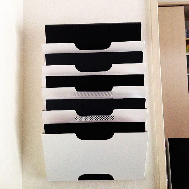 クリアファイル/セブンイレブン/IKEA/プリント収納/書類収納/マステ…などのインテリア実例 - 2014-06-19 13:50:01 | RoomClip(ルームクリップ)